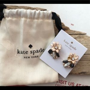 KATE SPADE PETAL, enamel earrings, new w/ bag tags